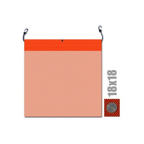 18x18 Safety Flag with Bungee cord (valuegear)